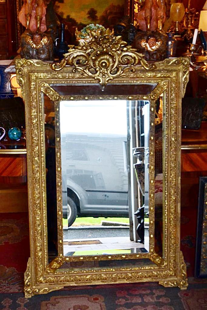 Grand miroir a pareclose xix eme miroirs for Acheter grand miroir