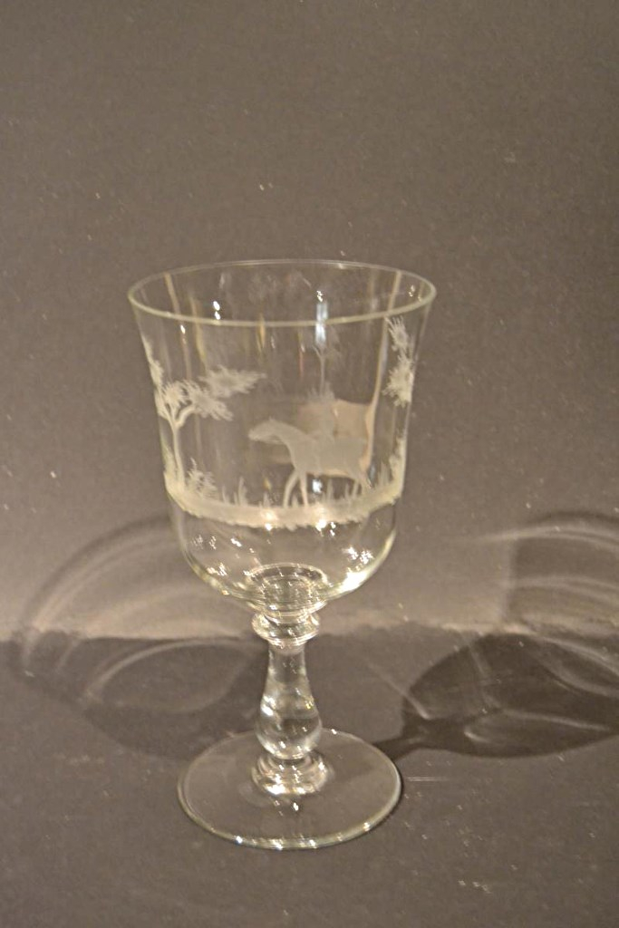 Grand Wedding Engraved Glass, Nineteenth