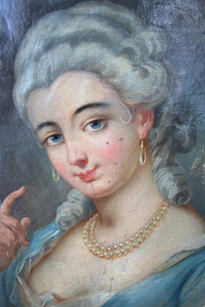 "Portrait ""Marquise De Prie""Dans Le Goût De Van Loo, XVIIIe"