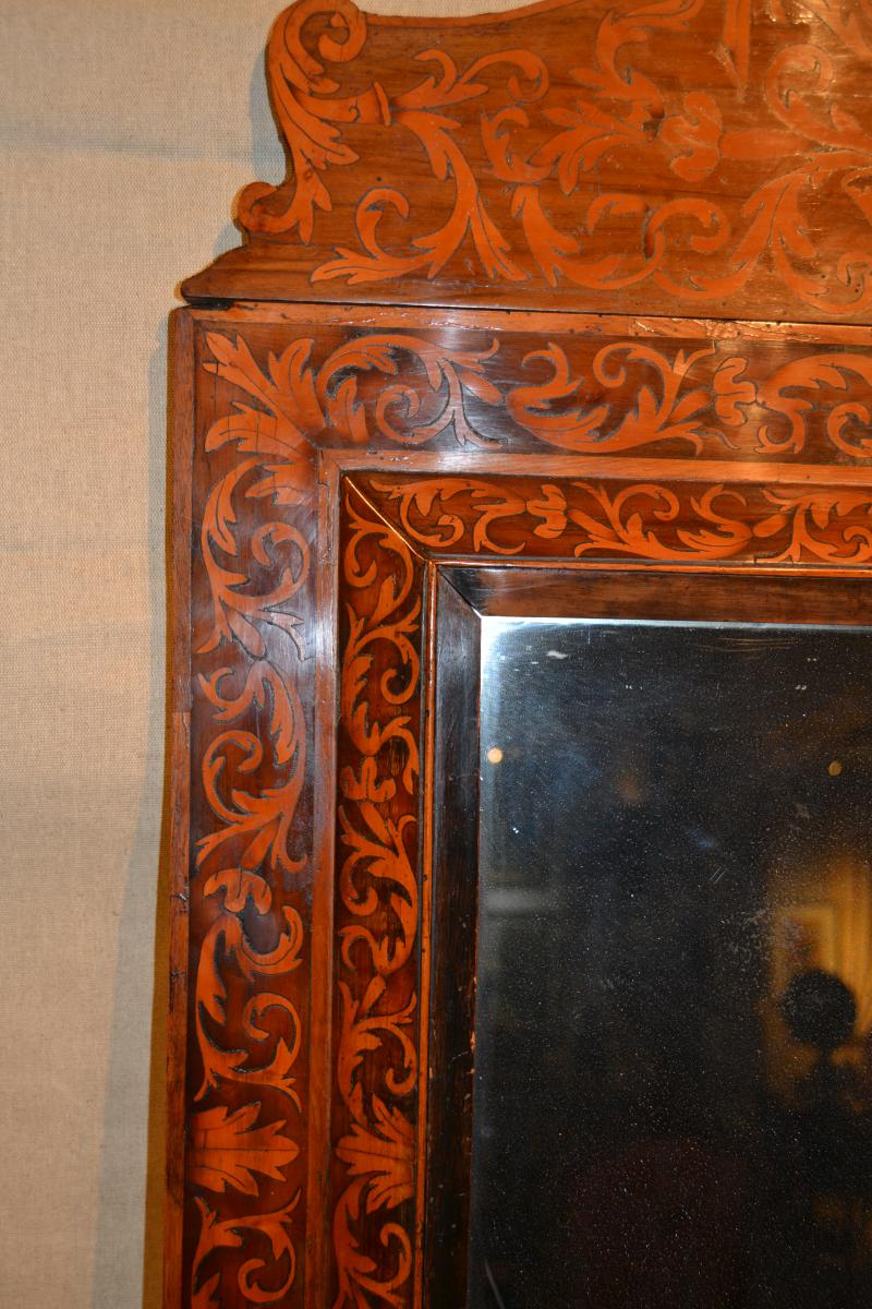 Miroir à Fronton Toulousain attribué à Noêl Hache, XVIIe