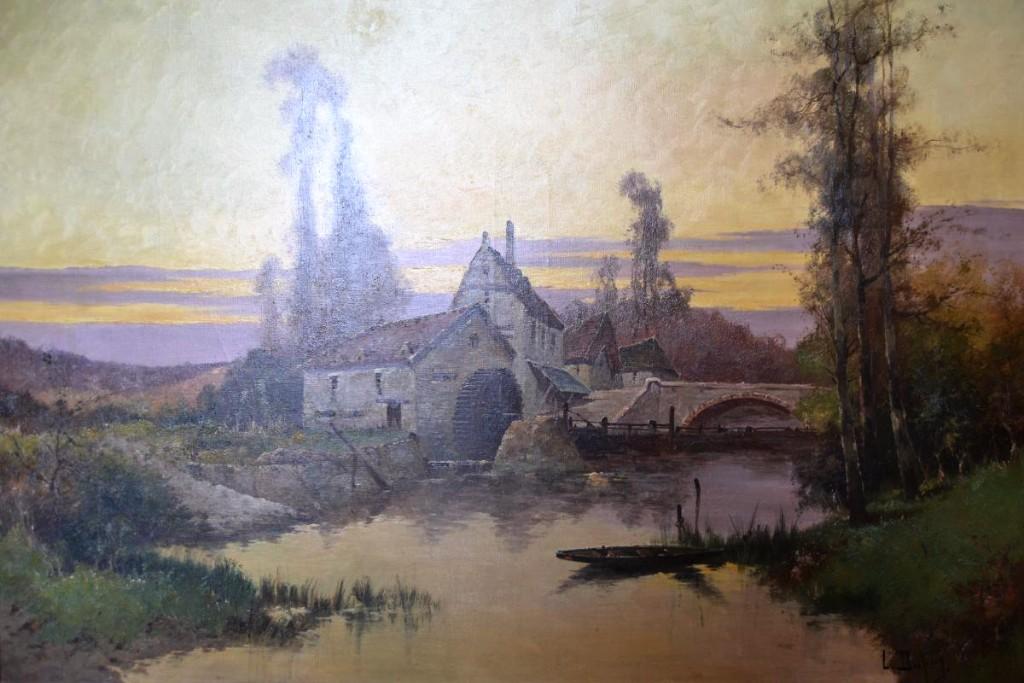 """Eugène Gallien-laloue (1854-1941), Hst """"le Moulin""""-photo-2"""