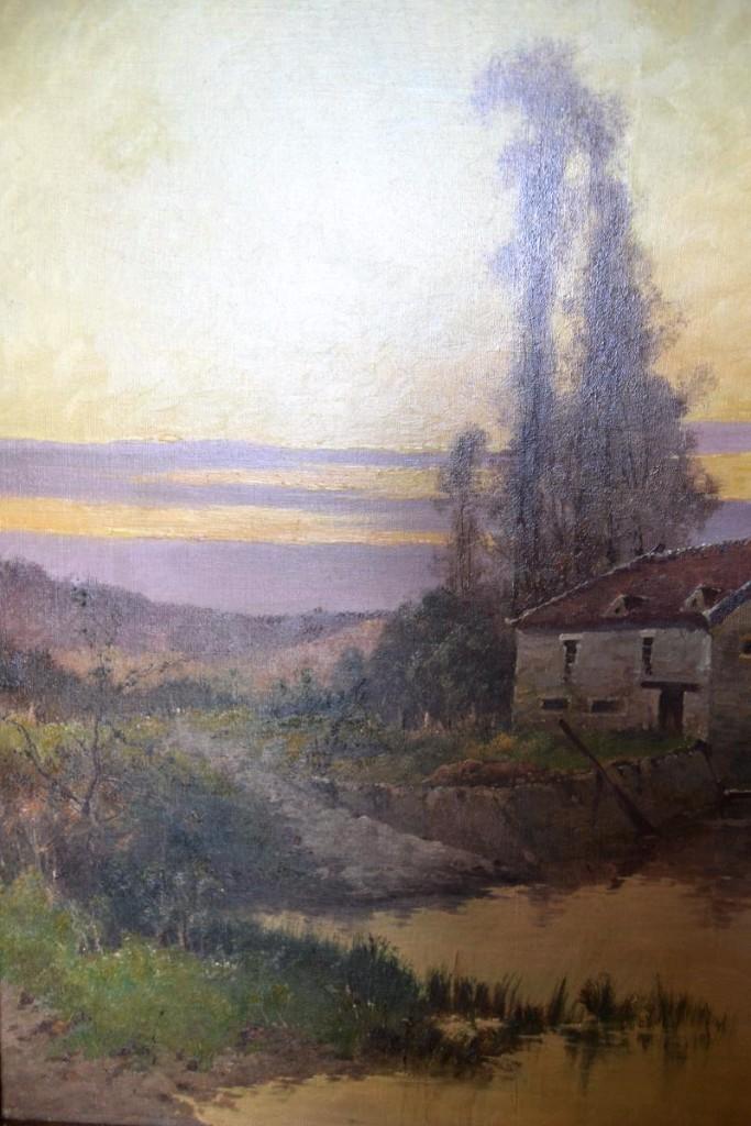 """Eugène Gallien-laloue (1854-1941), Hst """"le Moulin""""-photo-4"""