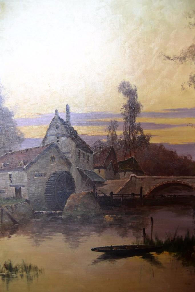 """Eugène Gallien-laloue (1854-1941), Hst """"le Moulin""""-photo-1"""