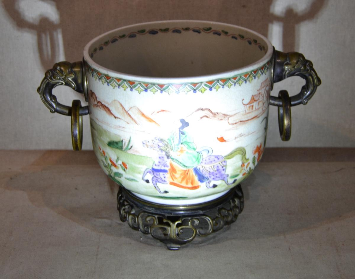 "Chine, ""cache Pot"", Vers 1900"