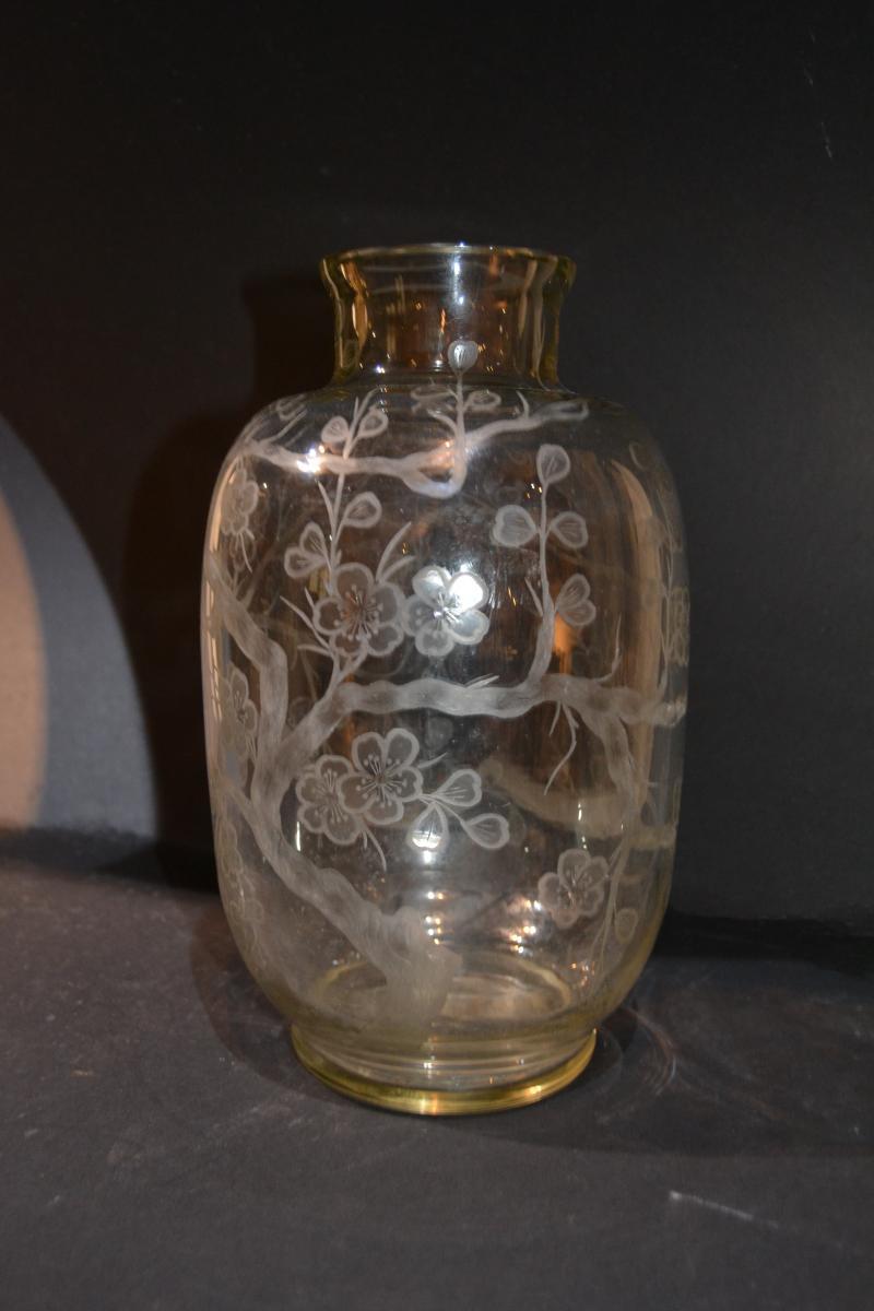 """Delvaux 18 Rue Royale Paris, """"crystal Vase"""", Circa 1900/1920"""
