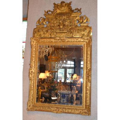 Grand Miroir Bois Doré d'époque Regence