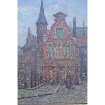 Tableau Hst Signé Jules Ribeaucourt, (1866-1932)