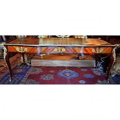 Grand bureau De Ministre Style Louis XV, XIX Eme