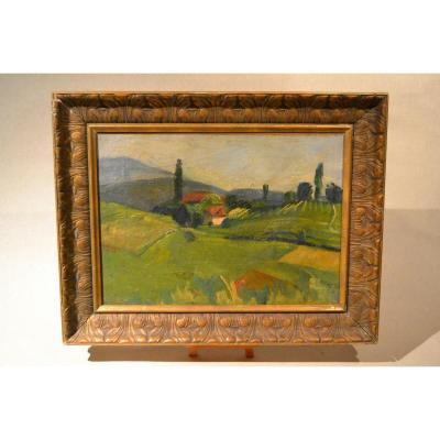 Tableau Hst, Paysage De Provence, XIXe