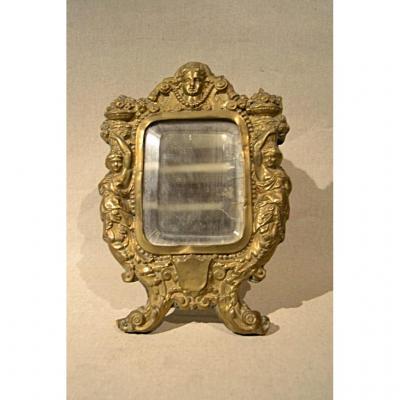 Miroir A Poser à Décor De Femmes, XIXe