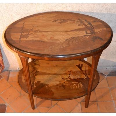 Art Nouveau Table Signed Paul Guth, Twentieth