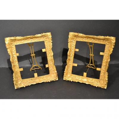 Pair Of Gilt Bronze Framework, Regence Style, Nineteenth