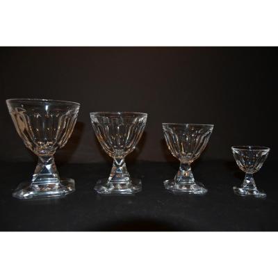 """Services Cristal """"baccarat"""" La Tour Maubourg """"72 Pieces, Twentieth"""