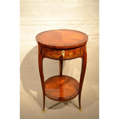 Table De Salon En Marqueterie, Est. Thibault, Epoque XVIIIe