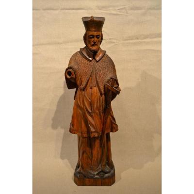 Saint Jean Népomucène En Bois Sculpté, XVIIIe Siècle