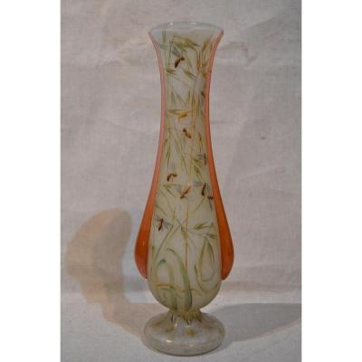 """Daum Nancy """"vase Aux Abeilles"""", Signé, Vers 1900"""