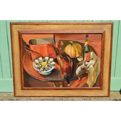 "Bernard Bistes (1941), Great Hst ""still Life With Oysters"", Twentieth"