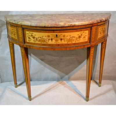 Charles Topino (master In Paris In 1773), Console Half Moon Louis XVI, XVIII