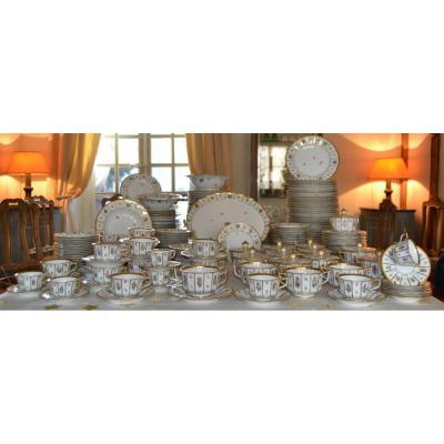 """Royal Copenhagen , Service De Table 225 Pièces """"modèle Henriette"""", XXe"""