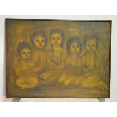 "Aumoma de Embu (1973), hst "" Les enfants"", XXe"