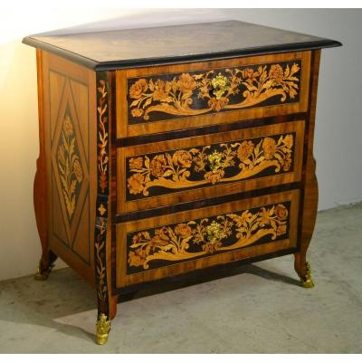 Rare Small Mazarine Louis XIV Commode, XVIIIth