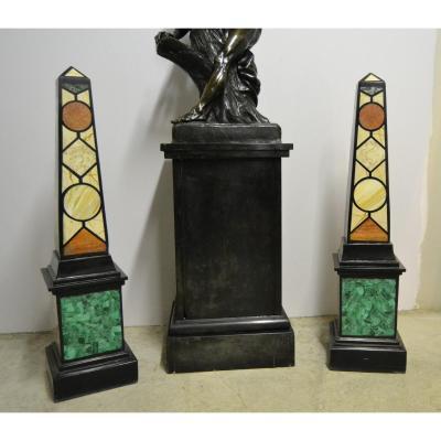 Great Pair Of Marble Obelisks, Nineteenth
