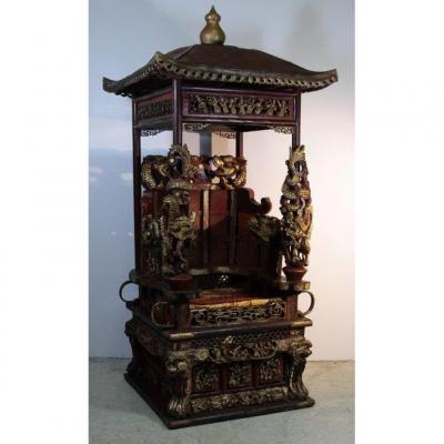 """Chaise à porteur """" palanquin"""", Chine XIXe"""