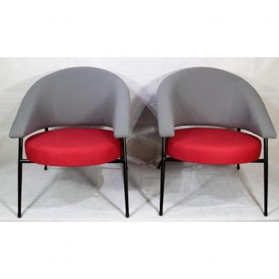 Maurice Mourra, Pair Of Armchairs, Year 1960