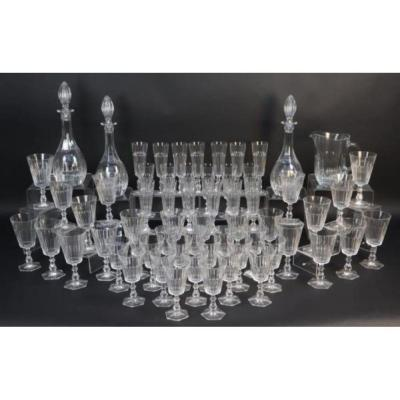 Cristal De Paris, 62 Piece Glass Service, Twentieth