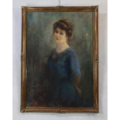 Louis PIOT ( 1867-1947 ) Pastel