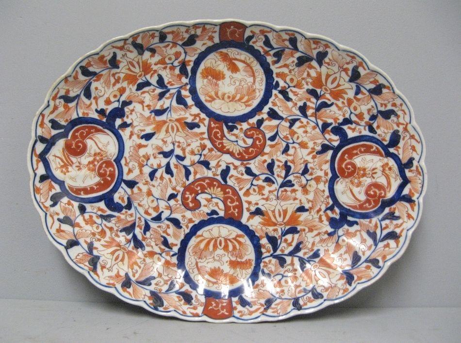 Grand Plat Porcelaine Imari Japon XIXe.