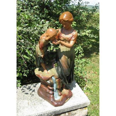 Plolychrome Plaster Sculpture Art Nouveau. Source.