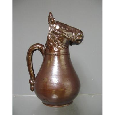 Absinthe Pitcher Sandstone Horse Head.