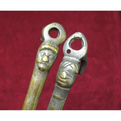 Lot Of Two Ladles Anthropomorph 17th.