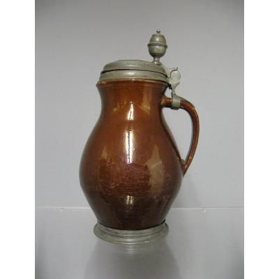 Pitcher Covered Earthenware Eighteenth.
