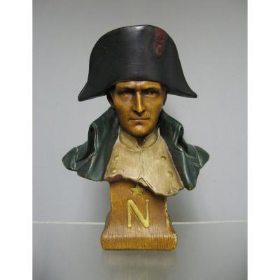 Buste En Plâtre Vers 1900. Napoléon 1er.