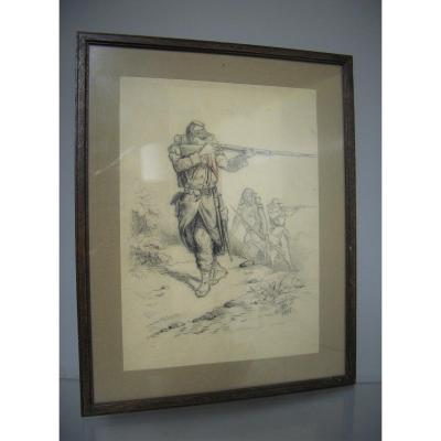 Military Drawing. Franco German War From 1870/73.