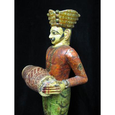 Polychrome Wood Sculpture.