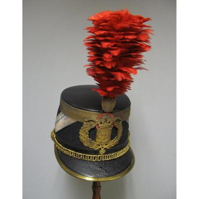 Shako Of Officer Of The Republican Guard Mle 1907.