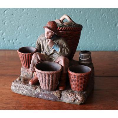 Pot à Tabac: Tourist Souvenir From Saint Brieuc. Early Twentieth