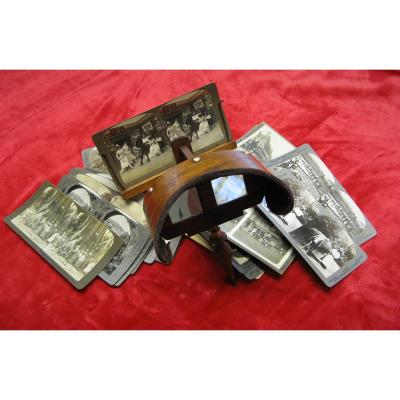 Holmes Stereoscopic Viewer With Nineteenth Maps.