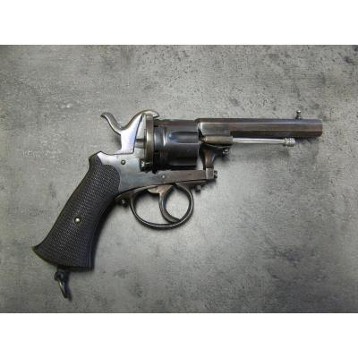 Pinfire Revolver Type Lefaucheux 9 Mm With Case.