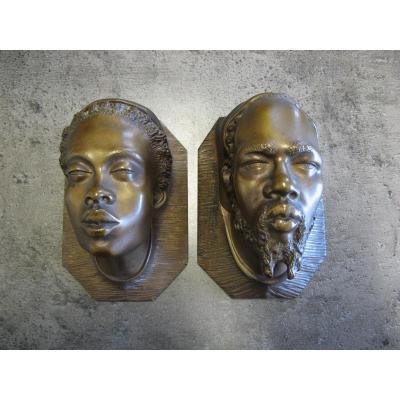 Paire De Pyrogène Orientaliste En Bronze Fin XIXe.