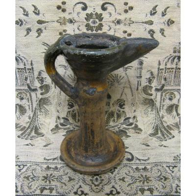 Nineteenth Terracotta Oil Lamp. Orientalism. Islamic Art.