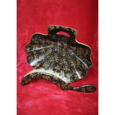 Crumbs Collector, Boiled Cardboard, Napoleon III Period.
