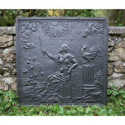 Fireplace Plate Goddess Of Dawn Nineteenth