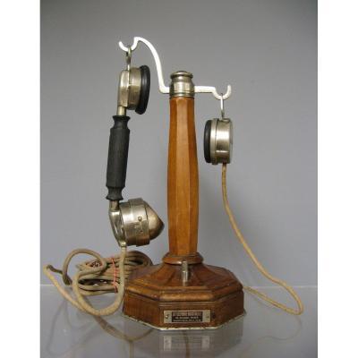 Column Desk Phone. Folk Art