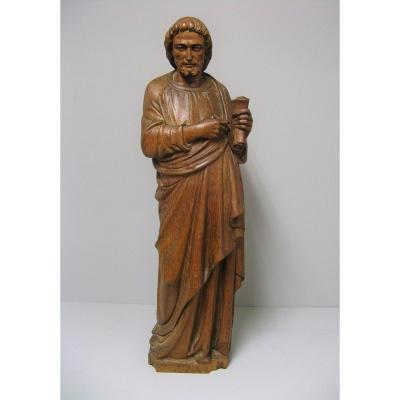 Large Statue In Carved Wood Late 18th Century