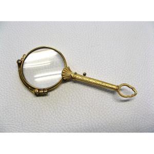Lorgnon Gold Filled Victorian XIXe