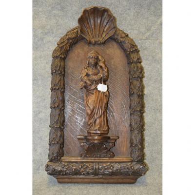 Chapelle De Sainte Marthe En Bois Sculpté, Objet Religieux, Art Populaire